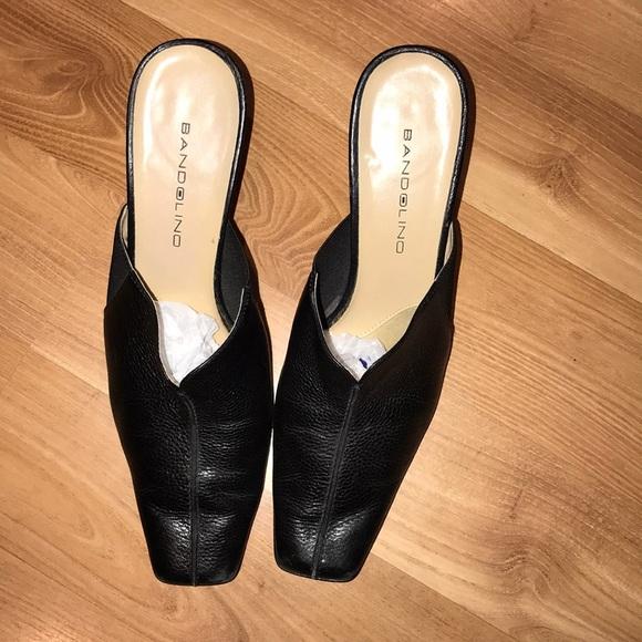 2b60bcf2d9210 Bandolino black leather mules size 8.5